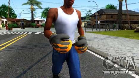 Black With Flames Boxing Gloves Team Fortress 2 para GTA San Andreas segunda pantalla