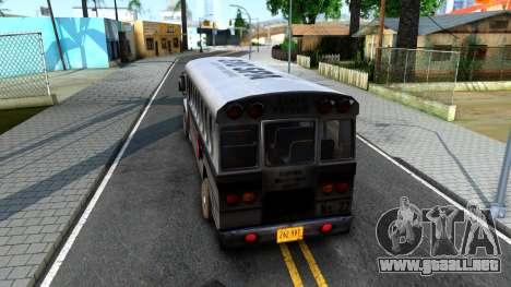 Prison Bus Driver Parallel Lines para GTA San Andreas vista posterior izquierda