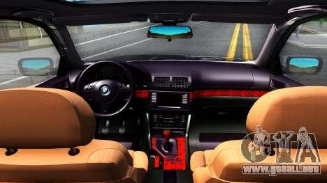 BMW e39 530d para visión interna GTA San Andreas