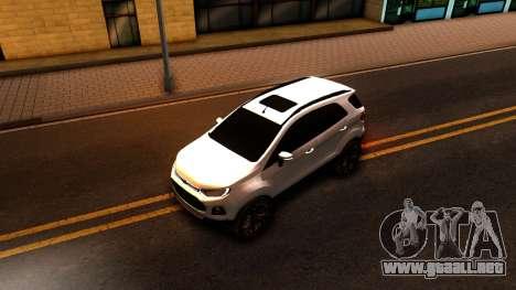 Ford EcoSport 2016 para GTA San Andreas vista hacia atrás