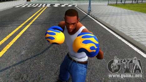 Blue With Flames Boxing Gloves Team Fortress 2 para GTA San Andreas tercera pantalla