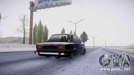 VAZ 2106 versión de invierno para GTA San Andreas vista hacia atrás