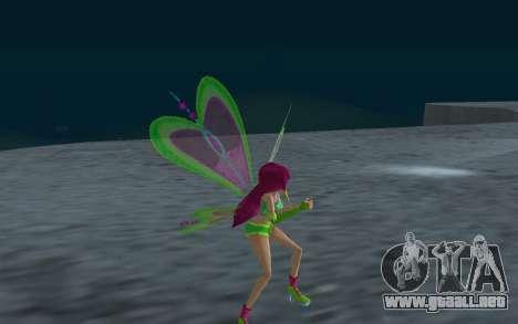 Fairy Roxy from Winx Club Rockstars para GTA San Andreas sucesivamente de pantalla