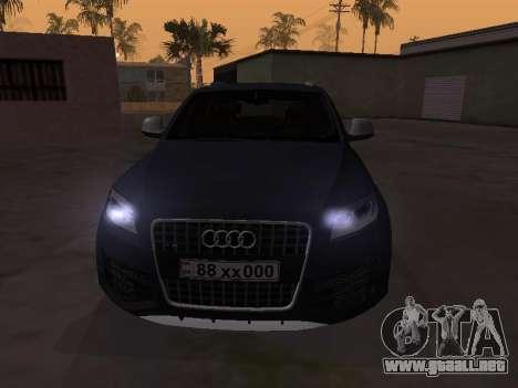 Audi Q7 Armenian para GTA San Andreas left
