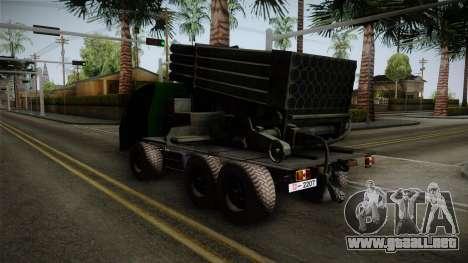 TAM 110 Serbian Military Vehicle para GTA San Andreas vista posterior izquierda