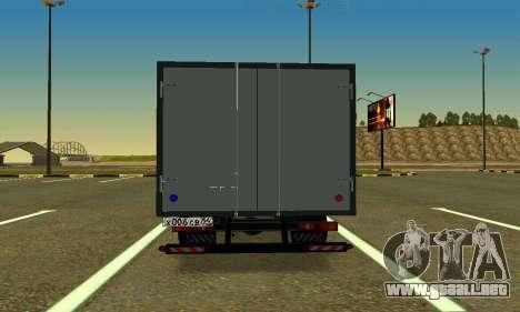 Gazel 3302 Negocio para GTA San Andreas vista posterior izquierda