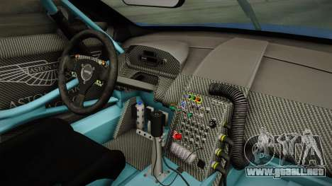 Aston Martin Racing DBR9 2005 v2.0.1 Dirt para visión interna GTA San Andreas