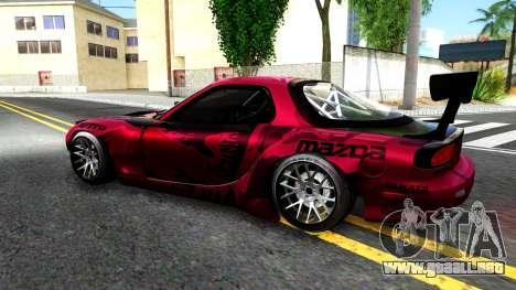 Mazda RX-7 Madbull Rocket Bunny para GTA San Andreas left