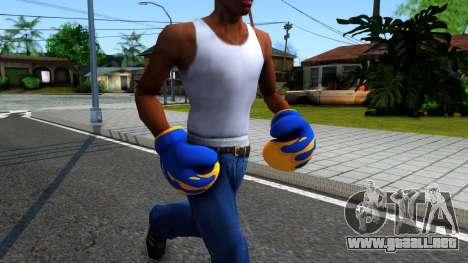 Blue With Flames Boxing Gloves Team Fortress 2 para GTA San Andreas segunda pantalla