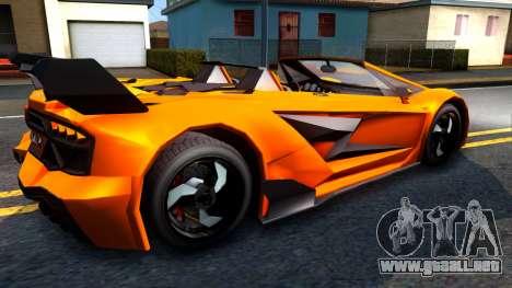GTA V Pegassi Lampo Roadster para la visión correcta GTA San Andreas
