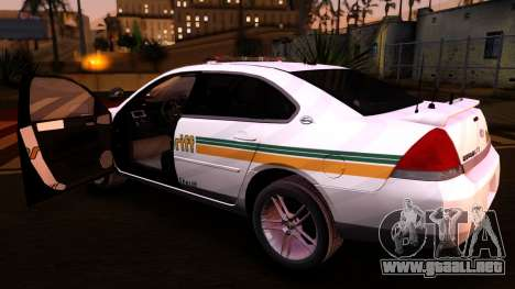 2008 Chevrolet Impala LTZ County Sheriff para GTA San Andreas vista hacia atrás