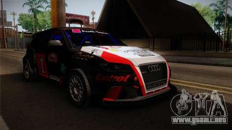 Audi RS3 Sportback Rally WRC para la visión correcta GTA San Andreas
