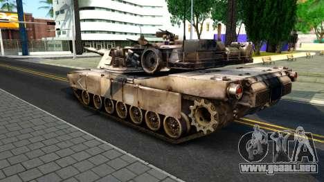 M1A1 Abrams COD4MW Remastered para GTA San Andreas vista hacia atrás