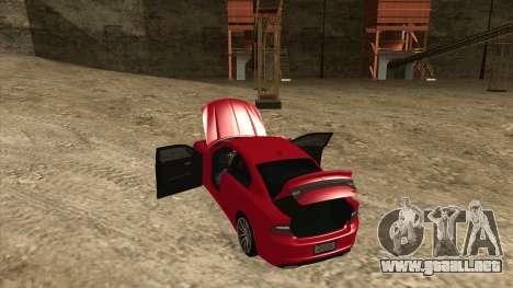 Dodge Charger R/T 2015 para visión interna GTA San Andreas