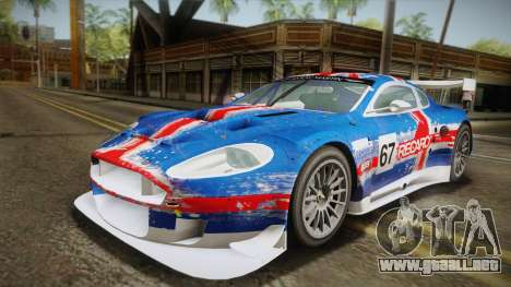 Aston Martin Racing DBR9 2005 v2.0.1 YCH Dirt para vista inferior GTA San Andreas