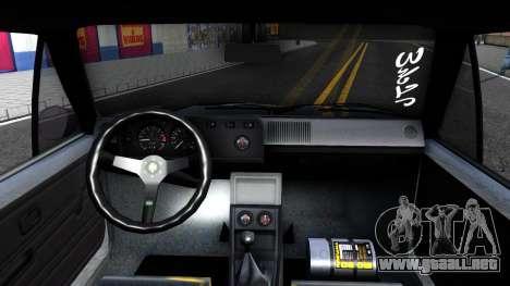 VW Golf Mk1 GTI Stance para GTA San Andreas vista hacia atrás