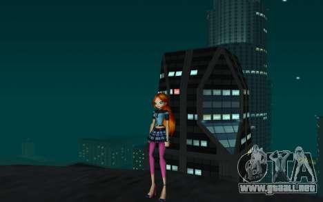 Bloom Rock Outfit from Winx Club Rockstar para GTA San Andreas segunda pantalla