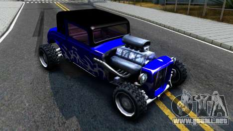 Duke Blue Hotknife Race Car para GTA San Andreas left