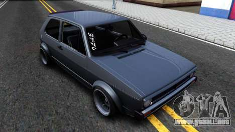 VW Golf Mk1 GTI Stance para GTA San Andreas left