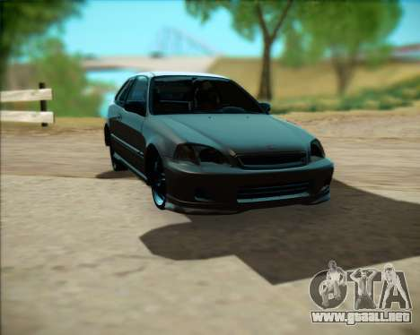 Honda Civic Hatchback para GTA San Andreas left