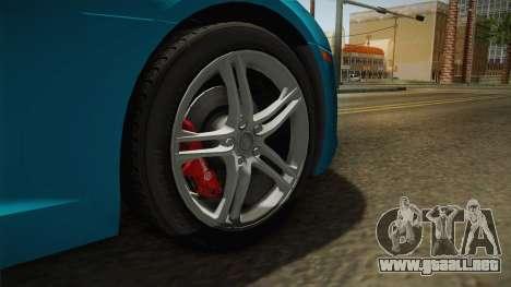 Audi R8 Coupe 4.2 FSI quattro US-Spec v1.0.0 v2 para GTA San Andreas vista hacia atrás