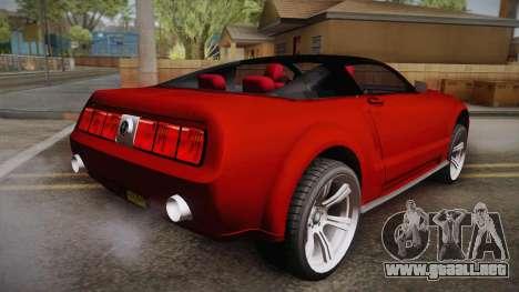 Ford Mustang 2005 para GTA San Andreas left