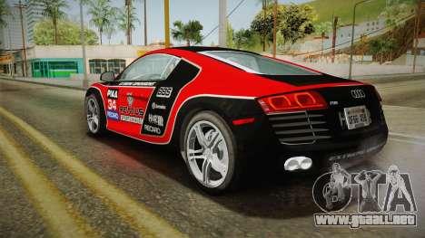 Audi R8 Coupe 4.2 FSI quattro US-Spec v1.0.0 YCH para las ruedas de GTA San Andreas