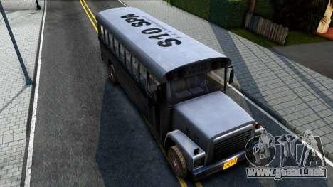 Prison Bus Driver Parallel Lines para GTA San Andreas vista hacia atrás