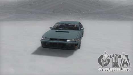 Sultan Winter IVF para GTA San Andreas vista posterior izquierda