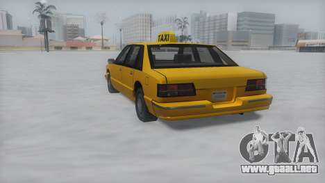 Taxi Winter IVF para GTA San Andreas left