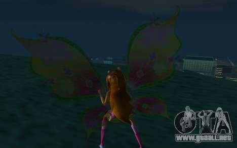 Flora Believix from Winx Club Rockstars para GTA San Andreas tercera pantalla