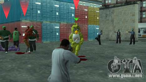 Five Nights At Freddys para GTA San Andreas quinta pantalla
