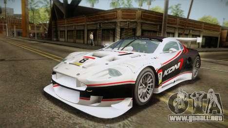 Aston Martin Racing DBR9 2005 v2.0.1 YCH Dirt para el motor de GTA San Andreas
