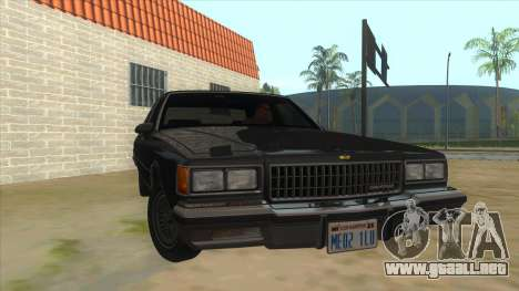 Chevrolet Caprice Brougham 1986 para GTA San Andreas vista hacia atrás