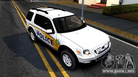 Ford Explorer Slicktop Metro Police 2010 para la visión correcta GTA San Andreas