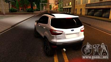 Ford EcoSport 2016 para GTA San Andreas vista posterior izquierda