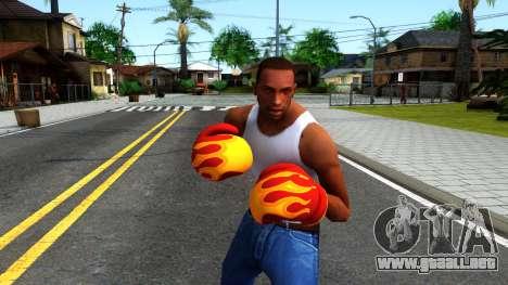 Red With Flames Boxing Gloves Team Fortress 2 para GTA San Andreas tercera pantalla