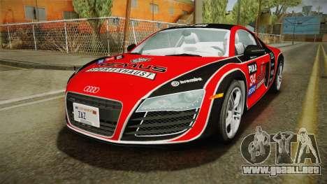 Audi R8 Coupe 4.2 FSI quattro US-Spec v1.0.0 v2 para el motor de GTA San Andreas