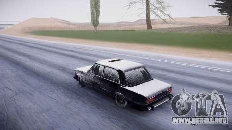 VAZ 2106 versión de invierno para GTA San Andreas vista posterior izquierda