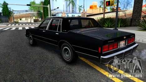 Chevrolet Caprice Brougham 1986 para la visión correcta GTA San Andreas