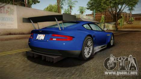 Aston Martin Racing DBR9 2005 v2.0.1 Dirt para GTA San Andreas left