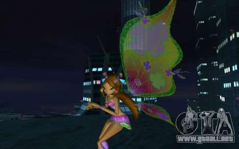 Flora Believix from Winx Club Rockstars para GTA San Andreas segunda pantalla