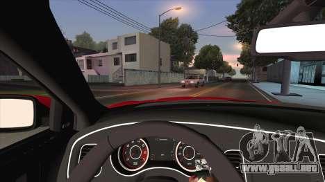Dodge Charger R/T 2015 para vista lateral GTA San Andreas