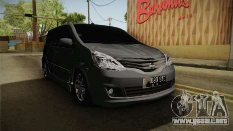 Nissan Grand Livina Highway Star para la visión correcta GTA San Andreas
