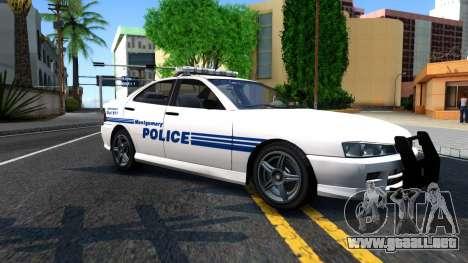 1998 Dinka Chavos Montgomery Police Department para GTA San Andreas left