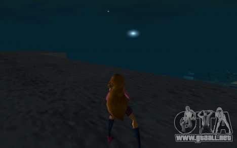 Flora Rock Outfit from Winx Club Rockstars para GTA San Andreas tercera pantalla