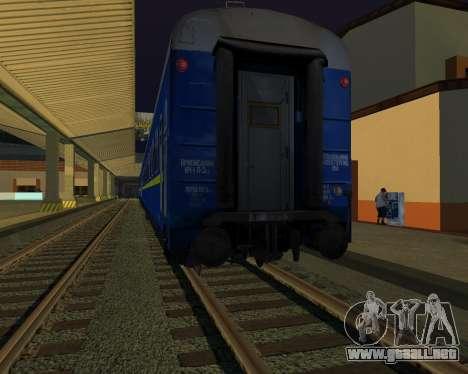 Compartimiento de coche Ferrocarriles de ucrania para visión interna GTA San Andreas