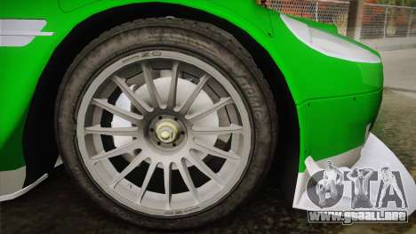 Aston Martin Racing DBR9 2005 v2.0.1 YCH Dirt para GTA San Andreas vista posterior izquierda