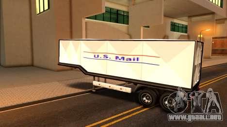 Box Trailer V2 para GTA San Andreas vista posterior izquierda