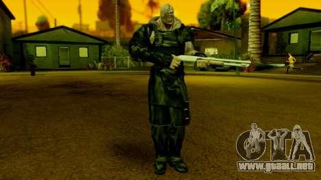 Resident Evil ORC - Nemesis para GTA San Andreas segunda pantalla